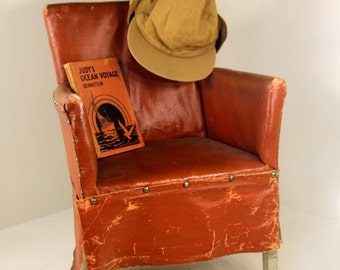 """True Antique """"Stuffed"""" Child's Chair American Chair Company of Sheboygan, Wisconsin Rustic"""