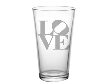 Valentine's Day Glass Gift, Etched Glass, Love Gift, His and Her Gift, Valentine Gift, Gift for Valentine's Day, Love Glass