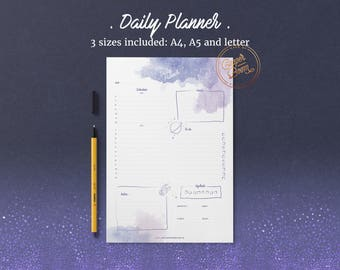 Galaxy Planner, Daily Planner Printable, Meal Planner, To Do List, Printable Planner Pages, Planner Inserts, Undated Planner, Bullet Journal