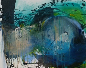 Cradled - Original Abstract Acryllic painting on canvas