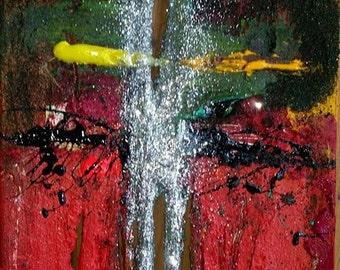 CROSS Of Mine - Original Abstract Acryllic painting on canvas