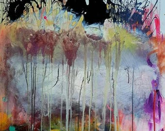 A New Life - Original Abstract Acryllic painting on canvas