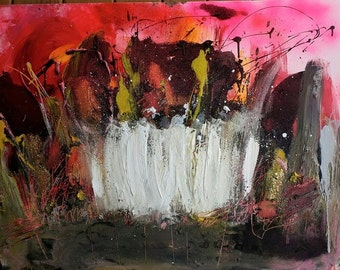 Loosing You Again And Again - Original Abstract Acryllic painting on canvas