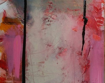 I Let You Into My Heart  - Original Abstract Acryllic painting on canvas