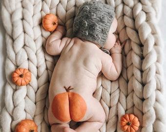 Cashmere  - Boy bonnet - Baby boy hat - Photo prop bonnet - Baby popcorn bonnet  - Baby boy - Baby props - Photography prop - Gray