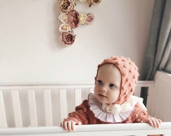 Sitter girl bonnet - Baby girl hat - Photo prop bonnet - Baby hat - Photo props - Sitter hat - Baby girl - Baby props - Photography props