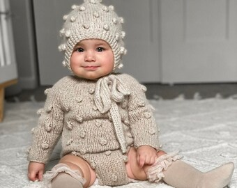 Sitter romper - Long sleeve romper - Baby girl props - Photo props - Sitter girl - Baby photo prop - Sitter baby photo - Baby girl - Popcorn