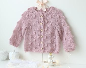 12-18 months - Sitter baby - Sitter cardigan - Popcorn cardigan - Baby - Photography props - Lavender cardigan - Baby cardigan - Toddler
