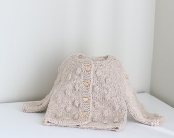 Baby cardigan - Sitter baby - Sitter cardigan - Popcorn cardigan - Baby - Photography props - Toddler cardigan - Baby cardigan - Baby girl