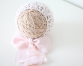 Newborn girl hat - Baby girl hat - Photo prop hat - Baby hat - Photo props - Newborn angora - Baby girl - Baby props - Photography prop