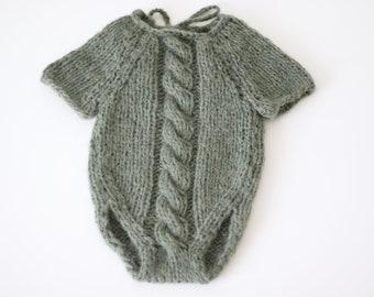 Newborn props - Newborn romper- Baby boy romper - Newborn Outfit - Photo Prop Outfit - Photo prop romper - Olive Green - Newborn boy - Props