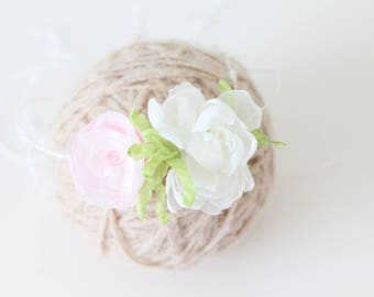 Newborn flower -  Props headband - Baby girl headband - Newborn hair - Newborn baby girl - Props headband - Newborn headband-Flower headband