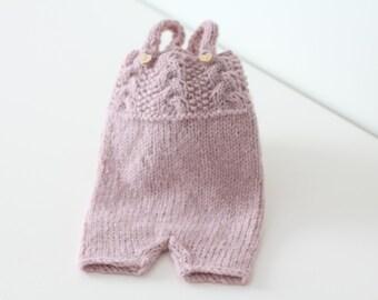 Baby girl romper - Newborn props - Newborn romper - Newborn Outfit - Photo Prop Outfit - Photo prop romper - Dusty pink - Newborn girl props