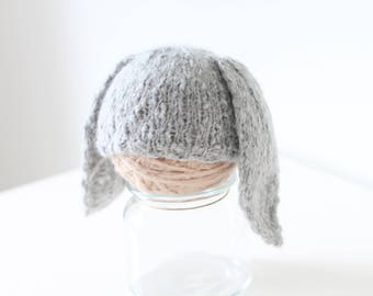 Newborn rabbit – Baby props – Newborn boy – Photo props – Baby boy rabbit – Newborn hat – Newborn props – Baby boy props - Easter hat - Gray