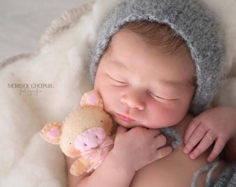 Newborn boy hat – Baby props – Newborn boy – Photo props – Baby boy hat – Newborn hat – Newborn props – Baby boy props - Dark grey - hat