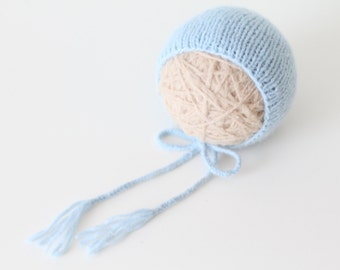 Newborn boy hat – Baby props – Newborn boy – Photo props – Baby boy hat – Newborn hat – Newborn props – Baby boy props - Light blue hat