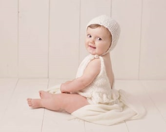 6-9 months - Sitter props - Baby girl props - Sitter girl - Sitter romper - Infant props - Sitter size  - Baby girl romper - Ruffle romper