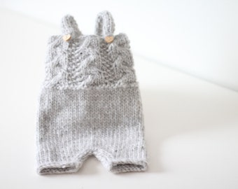 Newborn props - Newborn romper- Baby boy romper - Newborn Outfit - Photo Prop Outfit - Photo prop romper - Light grey - Newborn boy - Props