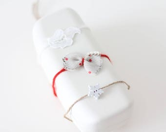 Baby accessories - Newborn girl - Baby headband - Hair flower - Set of 4 - Hair bow - Baby hair accessory - Organic headbands - Newborn girl
