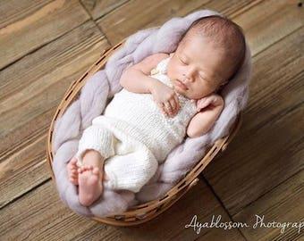 Newborn props - Newborn romper- Baby boy romper - Newborn Outfit - Photo Prop Outfit - Photo prop romper - Cream - Newborn boy - Props