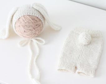 Newborn rabbit – Baby props – Newborn set – Photo props – Baby girl rabbit – Newborn hat – Newborn props – Baby girl props - Easter hat