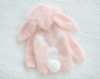 Bunny cardigan - Bunny outfit - Baby girl cardigan - Cardigan with hood - Bunny cardigan - Baby girl bunny - Bunny hood cardigan