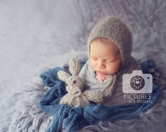 Newborn rabbit - Newborn props - Photo prop rabbit - Newborn bunny set - Photo prop boy - Newborn beat hat - photography prop - Easter props