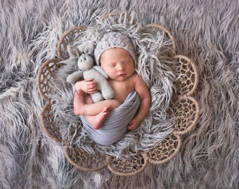 Newborn props - Baby boy hat  - Newborn boy - Newborn boys hat - Photo prop hat - Photo props - Photography prop - Baby boy hat - Light gray