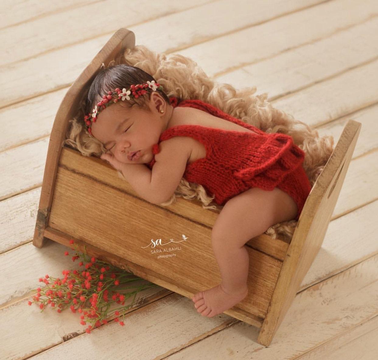 Newborn props newborn romper baby girl props photo props christmas day newborn christmas newborn baby photo red baby girl