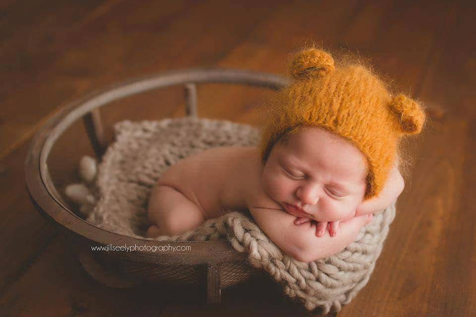 Newborn bear baby props newborn boy photo props baby boy bear newborn hat newborn props baby boy props bear hat ears hat