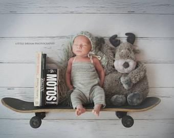 Newborn props - Baby boy hat  - Newborn boy - Newborn boys hat - Photo prop hat - Photo props - Photography prop - Baby boy hat - Light gray
