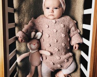 Sitter romper - Long sleeve romper - Baby girl props - Photo props - Sitter girl - Baby photo prop - Sitter baby photo - Baby girl