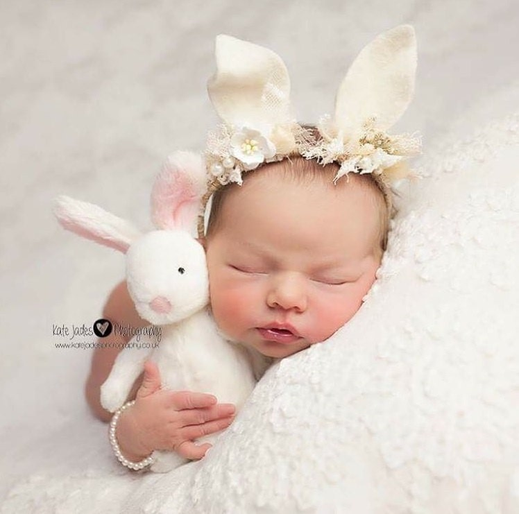 Newborn props newborn bracelet baby girl props baby jewelry baby girl bracelet soft pink pearl bracelet newborn girl pale pink