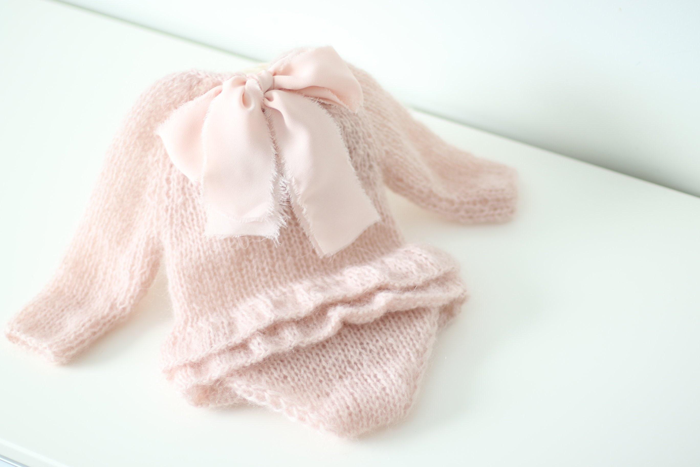 5b533c397ee2 Newborn props - Long sleeve romper - Baby girl props - Photo props ...