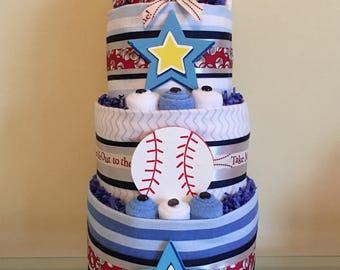 Little Boy Baseball Diaper Cake