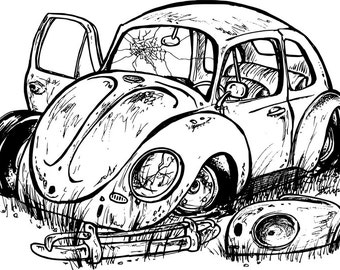 vw type 1 etsy Volkswagen Van the rusty vw t shirt dead bug bug type 1 beetle rusted vw volkswagen stovepipe rusty vw
