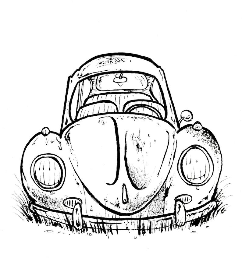 The Rusty Vw T Shirt Dubble Bug Type 1 Bug