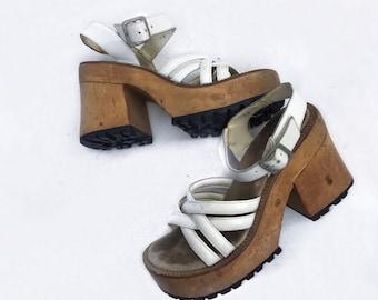 Vintage 90 s Platform Sandals
