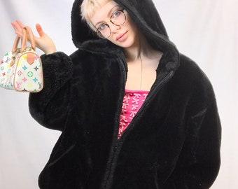 0cc8c3c15 VIntage Faux Fur Hooded Jacket