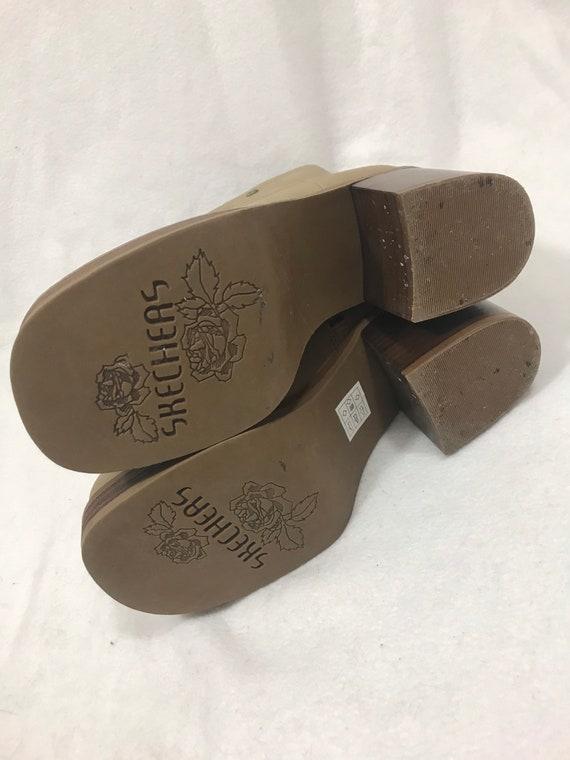 1990s Vintage Leather Platform Ankle Boots - image 8