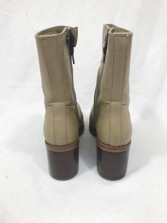 1990s Vintage Leather Platform Ankle Boots - image 7
