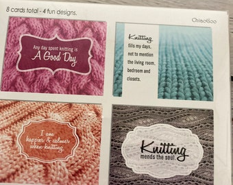 ChiaoGoo Knotes | note cards for knitters, gifts for knitters