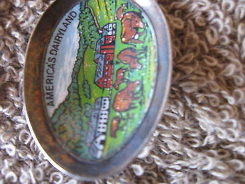 Decorative Collectible Spoon State of Wisconsin w Gift Box Vintage 4 14  SP9
