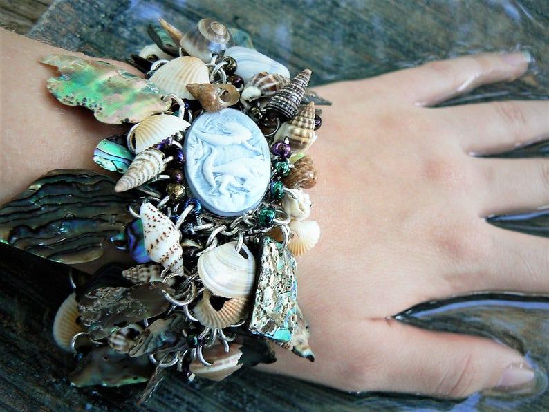 mermaid bracelet resort wear abalone bracelet seashells image 0
