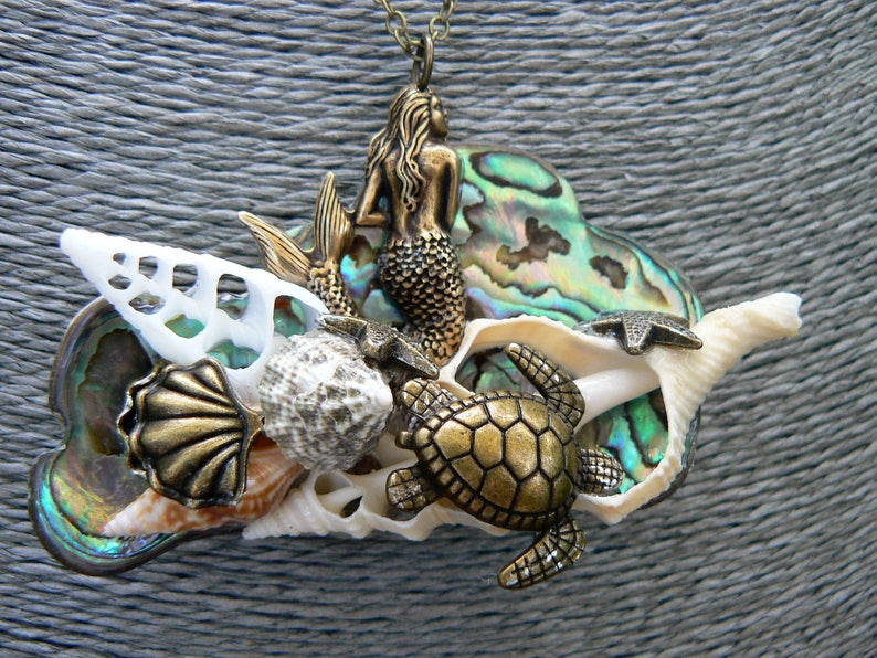 Mermaid Statement Necklace,Mermaid Abalone Necklace Festival Paua Necklace Seashell Necklace Cosplay Jewelry Boho Siren Costume