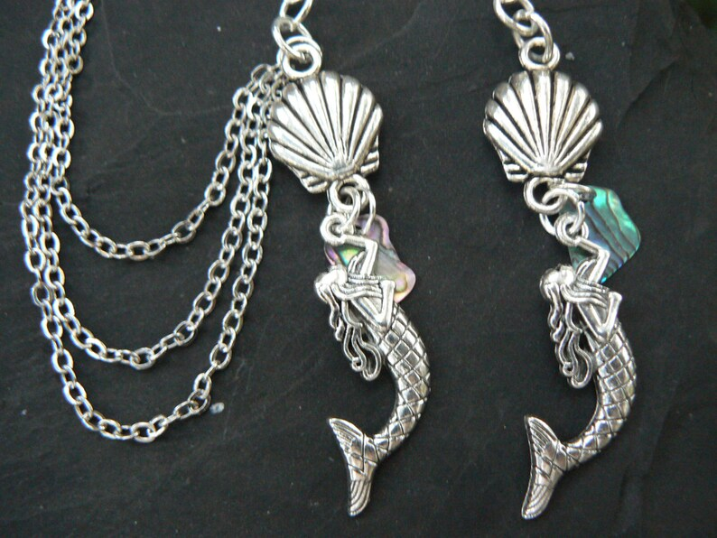 mermaid ear cuff SET  seashell ear cuff   siren ear cuff nautical ear cuff  beach ear cuff  belly dancer gypsy hippie boho hipster style