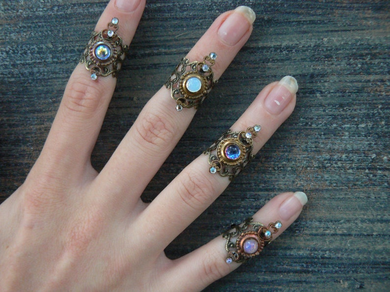 knuckle ring midi ring stocking stuffer ONE armor ring nail image 0