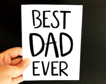 Best Dad Ever Card - Confetti Card - Father's Day gift - dads day card