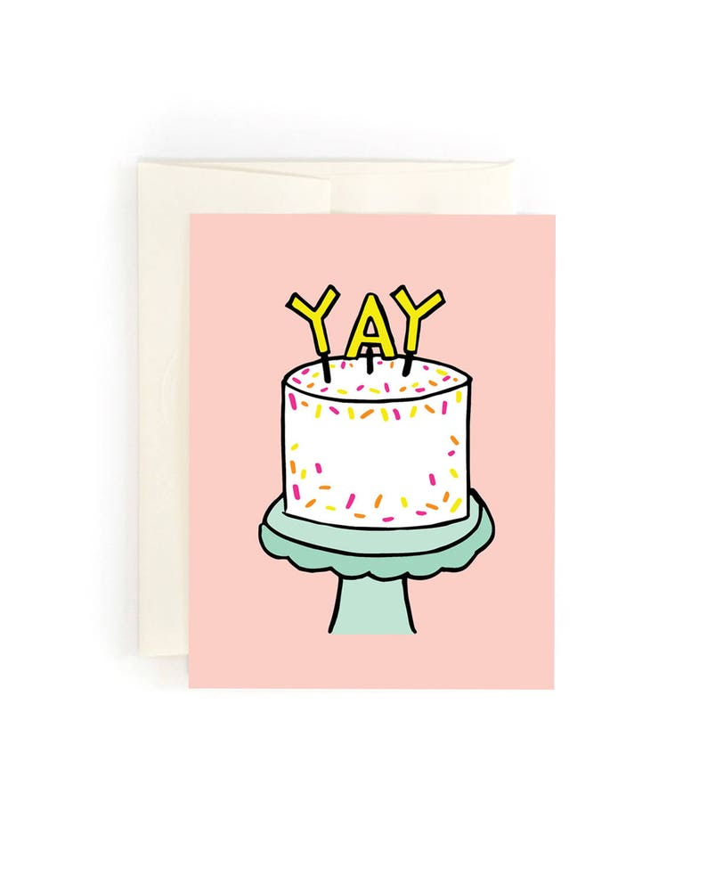 Happy Birthday Yay Cake Stand Card