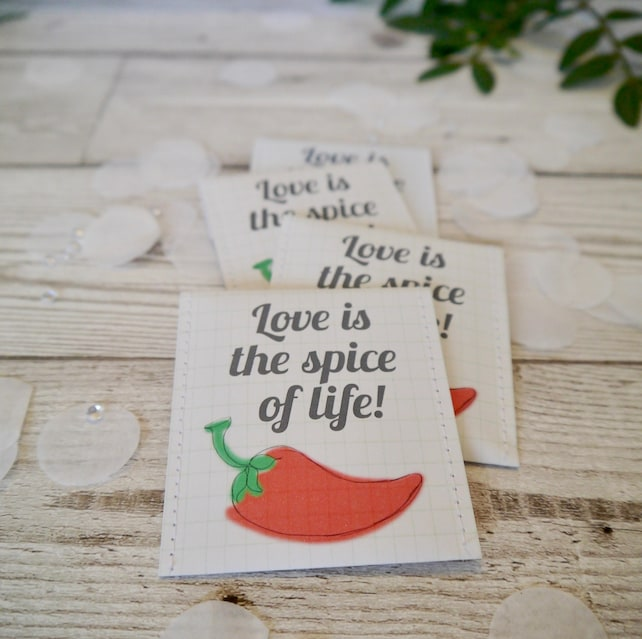 Chillies Wedding Favour Seed Bag Pack Of 10 Chilli Seed Wedding